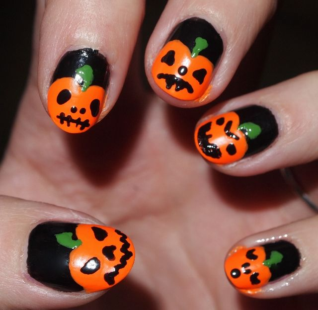 halloween nail designs. halloween. 28 amazing halloween nail art . - Halloween Pumpkin Toe Nail Art Halloween Pumpkin Designs