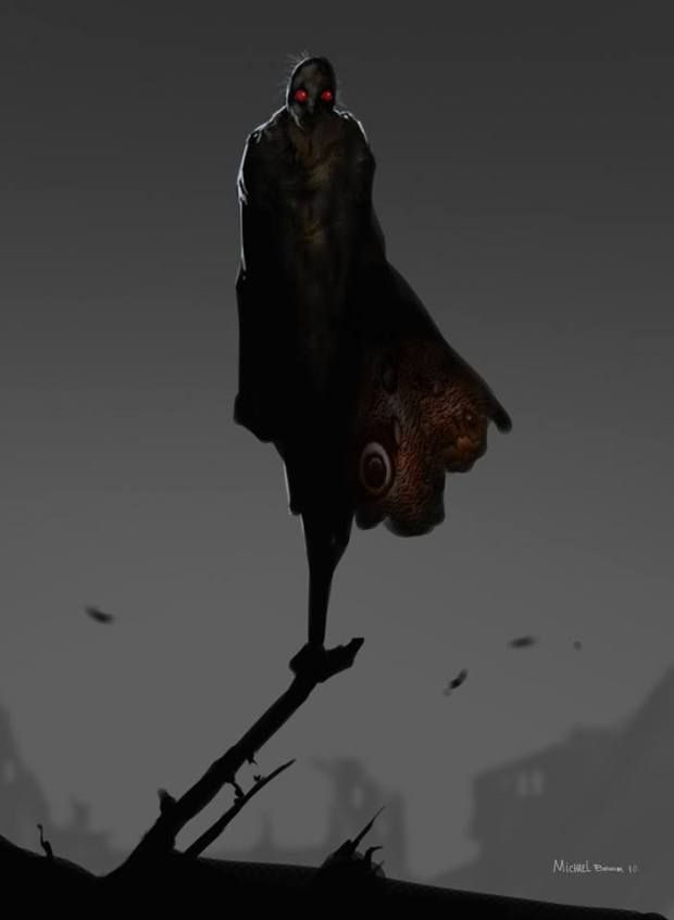 Scary Mothman Image Mothman Mothman Sightings Weird Creatures