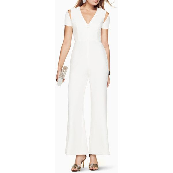 2ab347d6825 BCBGMAXAZRIA Johnny Cutout Jumpsuit ( 298) ❤ liked on Polyvore featuring  jumpsuits