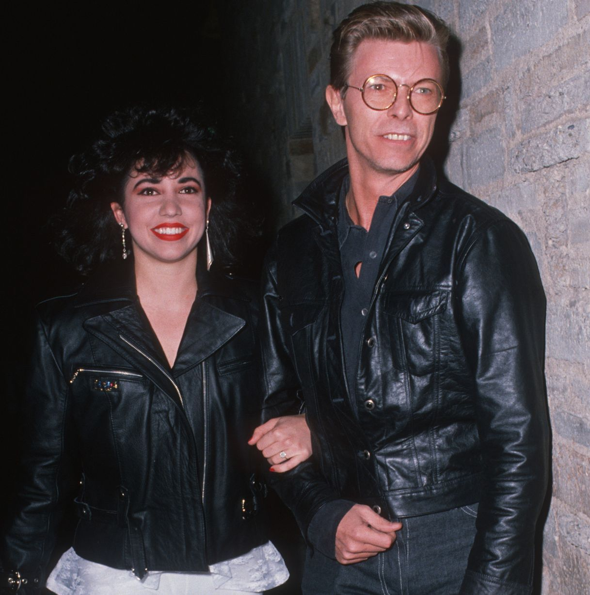 Musician David Bowie and date Melissa Hurley
