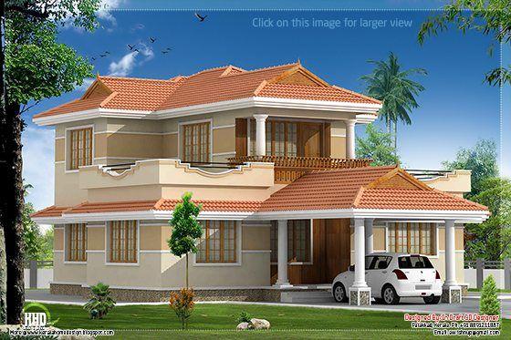 Kerala Model Villa Kerala House Design Model House Plan Duplex House Design
