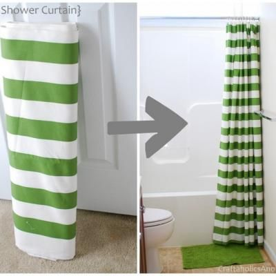 Make Your Own Shower Curtain {Home Decor}