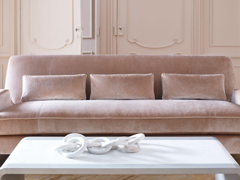 The New Jean Louis Deniot Collection For Baker Furniture Pink Velvet Sofa Baker Furniture Velvet Furniture