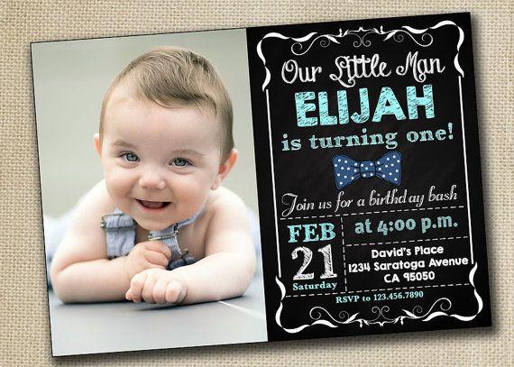 Baby Boy Girl First Birthday Invitation 1st By PrintablesToYou