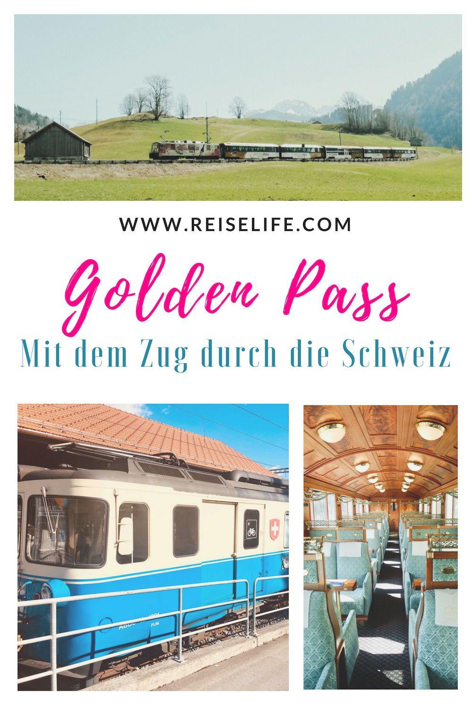 In Der Schweiz Bahn Fahren Unterwegs Auf Der Golden Pass Line