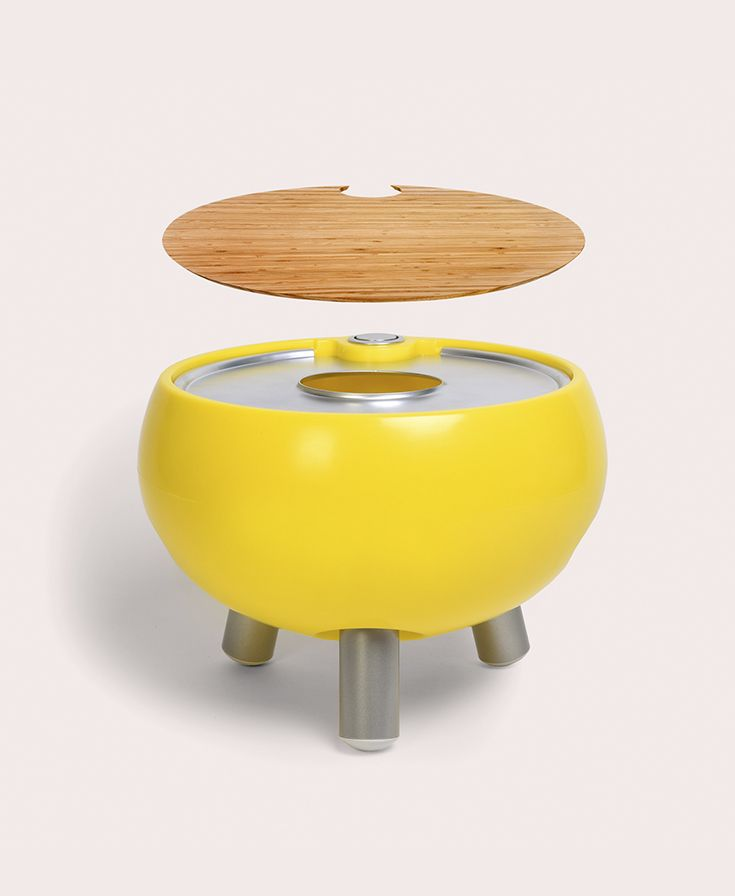 Here Is Our Freebird Cooler Table In Egg Yolk Yellow