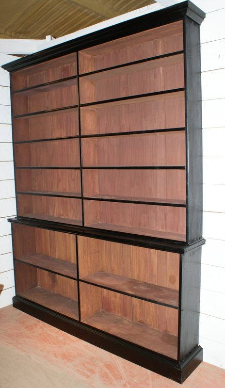 19th C Ebonized Library Bookcase 1840 Dimensions 82 Inches208 Cms Wide 135 Inches34 Deep 1035 Inches263 High