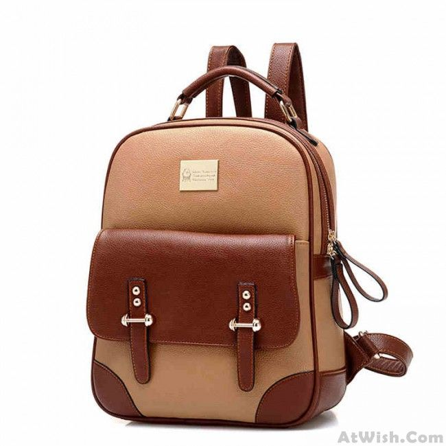 8956b3baab0 New British Style Retro Leather Backpack is you good choice for new ...