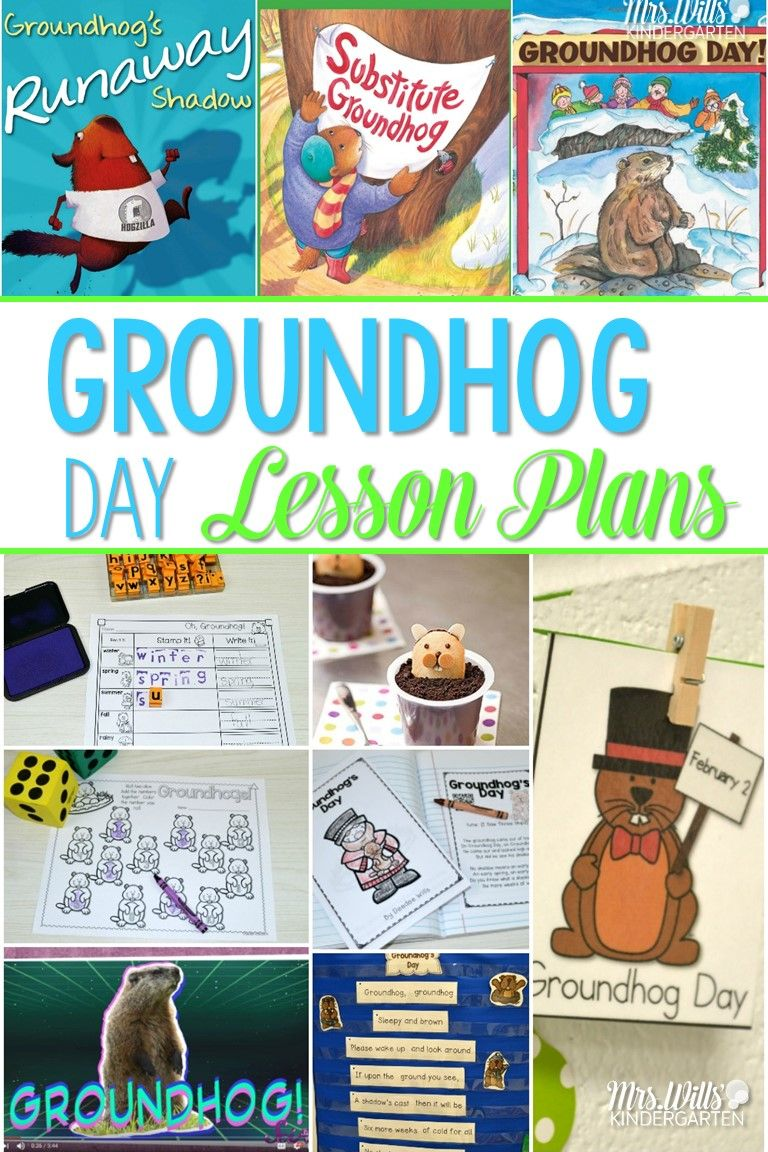 Three cheers for groundhog day literacy kindergarten and math groundhog day lesson plans for kindergarten this post includes books music and poetry ibookread Read Online