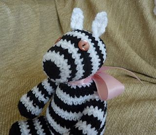 Yellow, Pink and Sparkly: Zillah Zebra