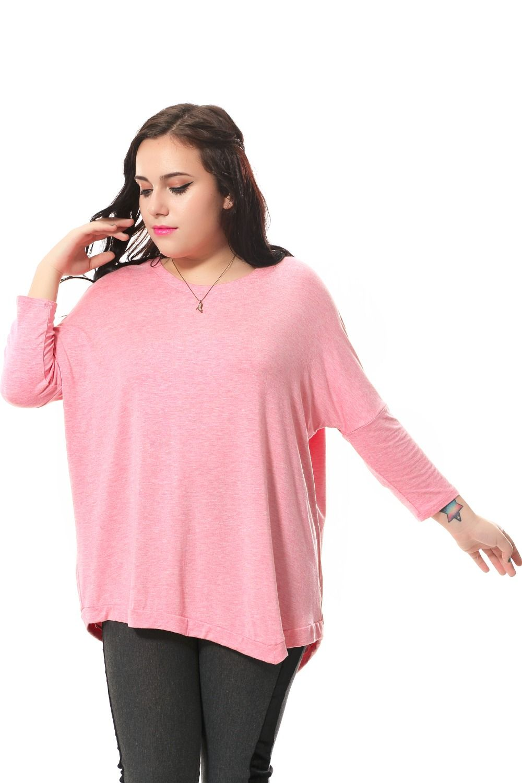 9fa22ac6b077d5 Plus size casual t-shirt women with asymmetrical hem Cotton loose t-shirt  Full sleeve 4 colors 3xl-6xl spring autumn winter 1002 #Affiliate