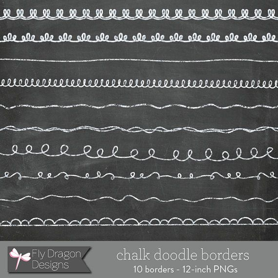 Chalk Clip Art Doodle Borders And Free Chalkboard Backgrounds Overlays For Scrapbookers And Photographers Doodle Borders Chalk Chalkboard Doodles