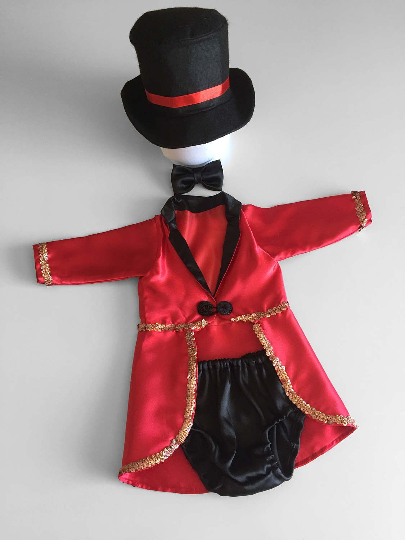 Cake smash outfit boy red circus ringmaster boys 1st