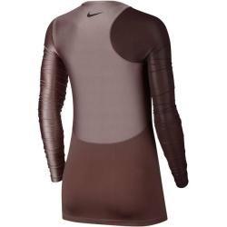 Nike Damen Trainingsshirt Pro HyperCool Langarm, Größe S in Rot NikeNike