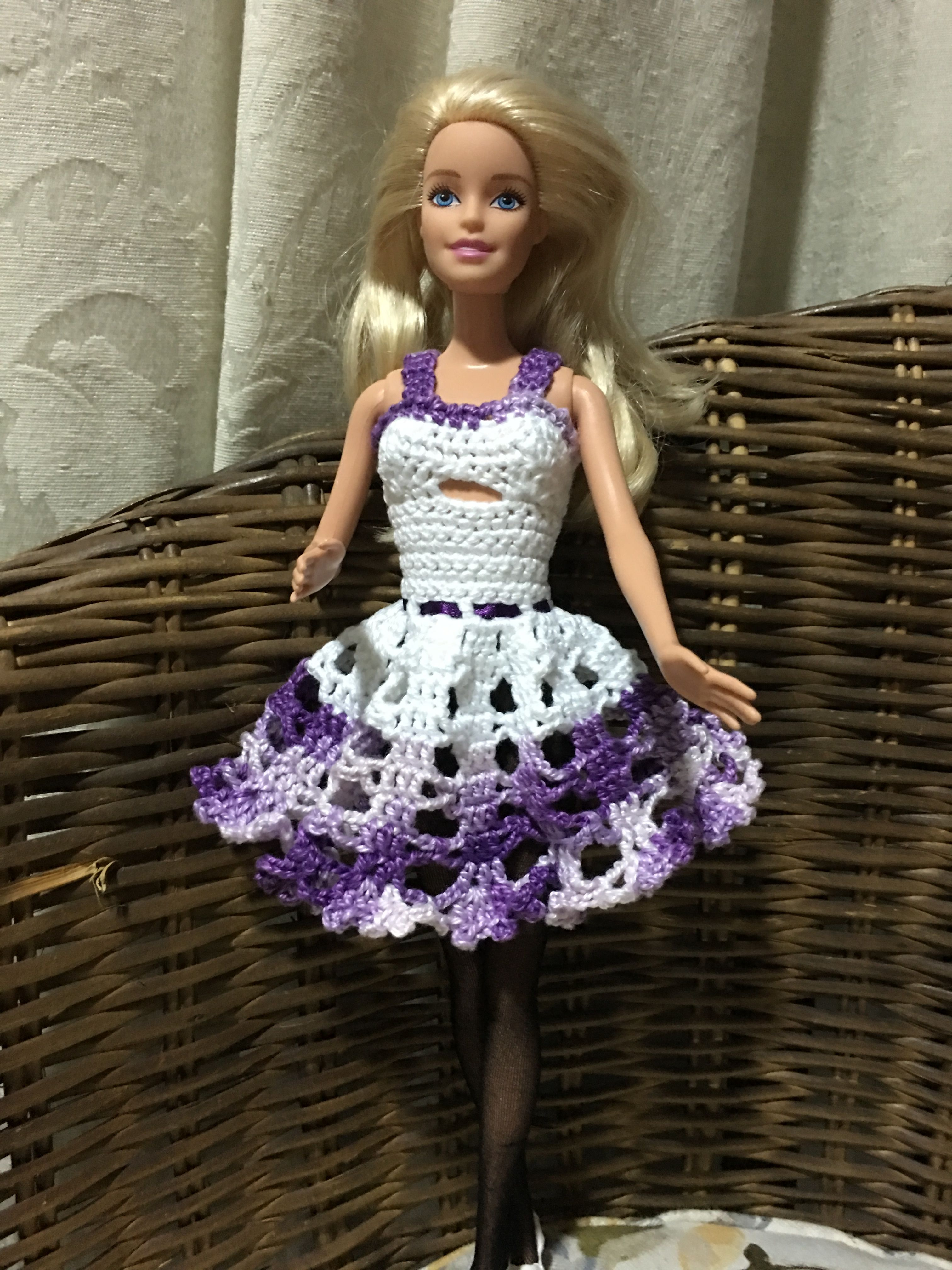Pin von kristina royalty auf crocheted doll dresses and doll ...