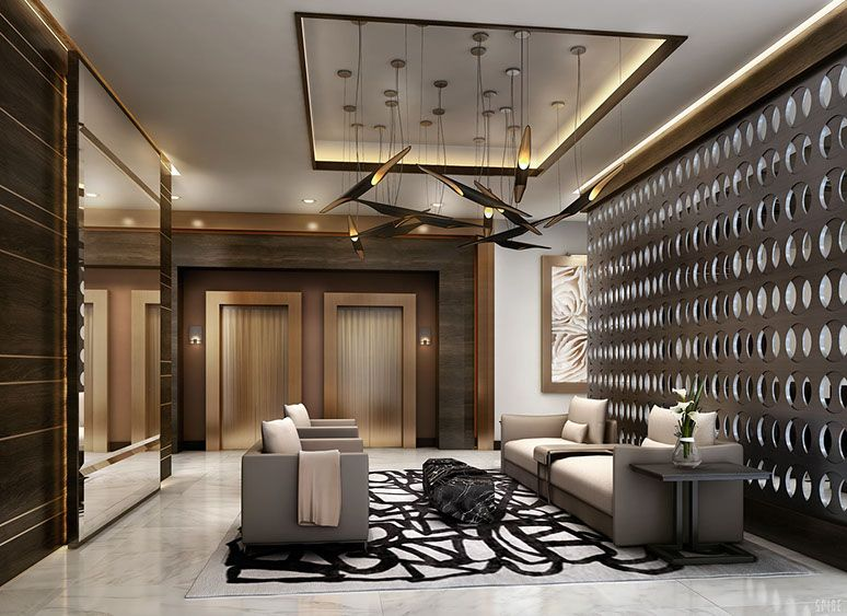 Designed by world renowned interior designer Steven G the lobby
