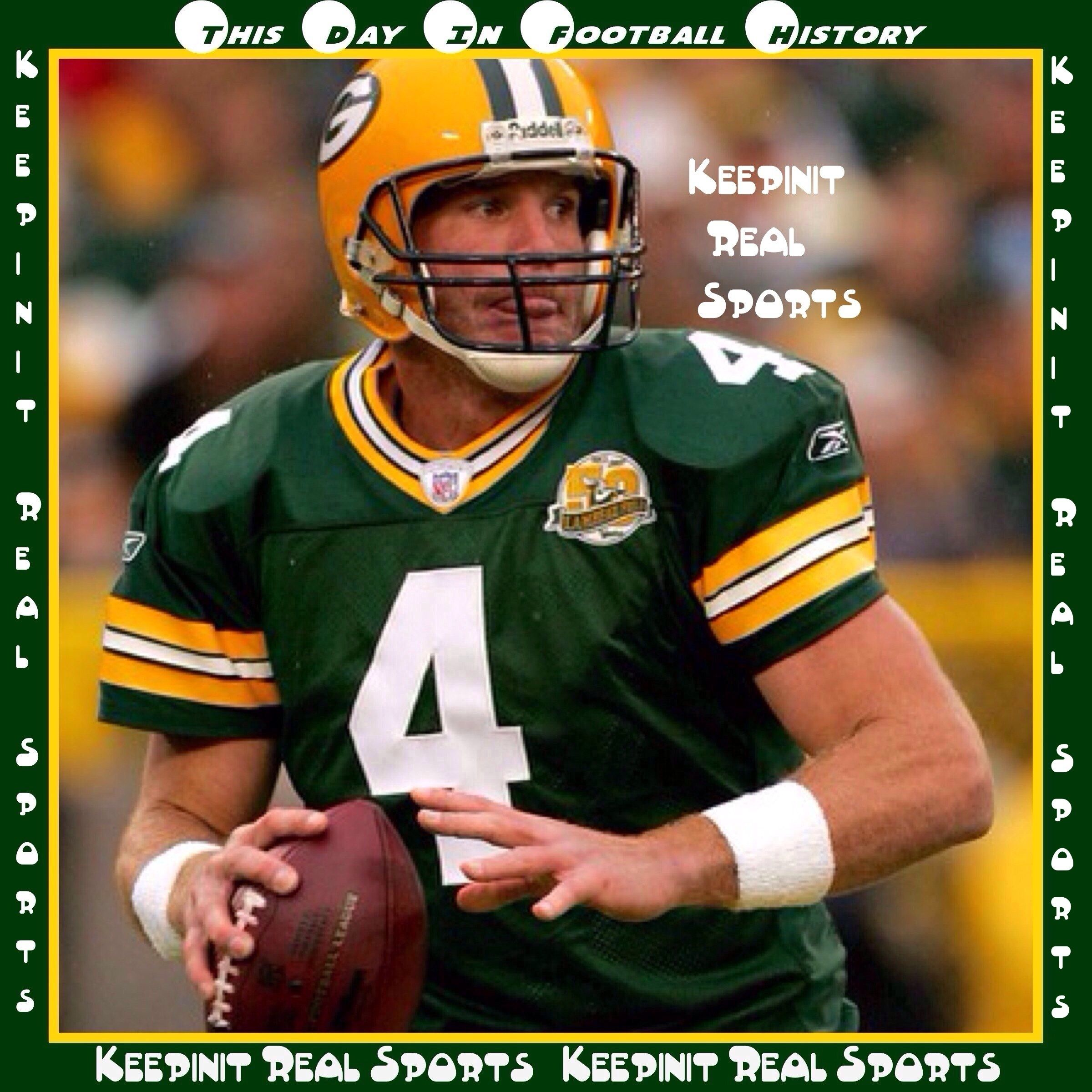 This Day In Football History December 20 1998 Brett Favre Green Bay Packers Became Th Green Bay Packers Fans Green Bay Packers Green Bay Packers Football