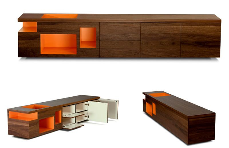 Wood Furniture Design nice clean lines and a pop oh tangerine to set it off. the wood
