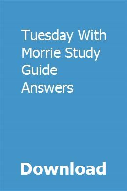tuesday with morrie pdf free download