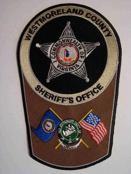 Westmoreland county Sheriff VA 2 | LE patches | Police patches