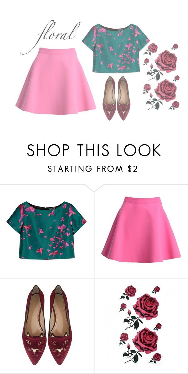 """#2"" by luvlindi on Polyvore featuring NOIR Sachin + Babi, MSGM and Charlotte Olympia"