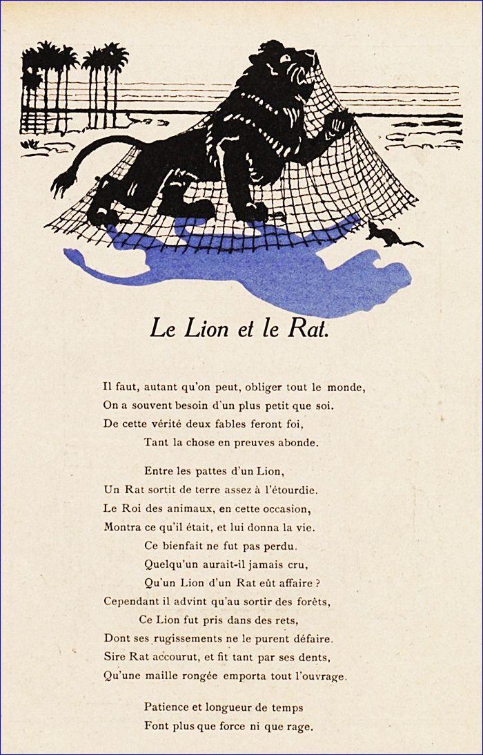 Le Lion Et Le Rat Poesie Quotations Illustration Et Rats