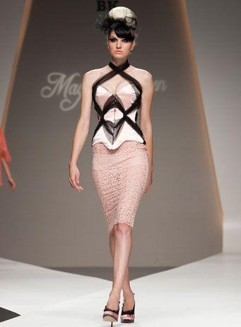 maya hansen ss11  'lace wings' look 14  ss11  fashion