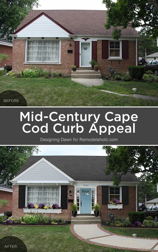 Adding Curb Appeal The Blank Slate Brick Ranch