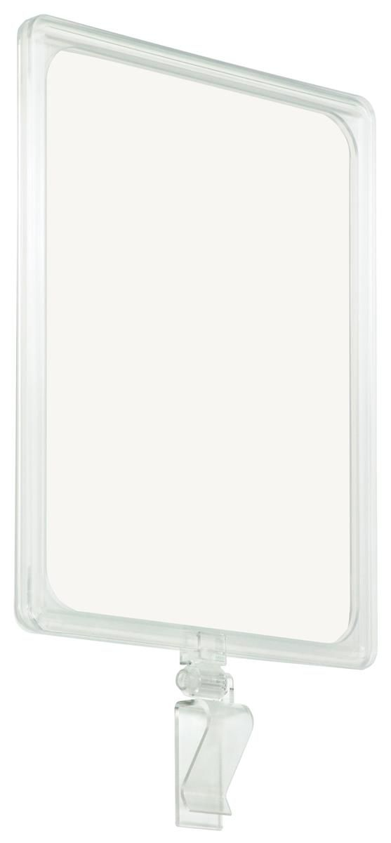 8 5 X 11 Clip On Sign Holder Top Insert Single Clamp Clear Sign Holder Plastic Signs Mirror Table