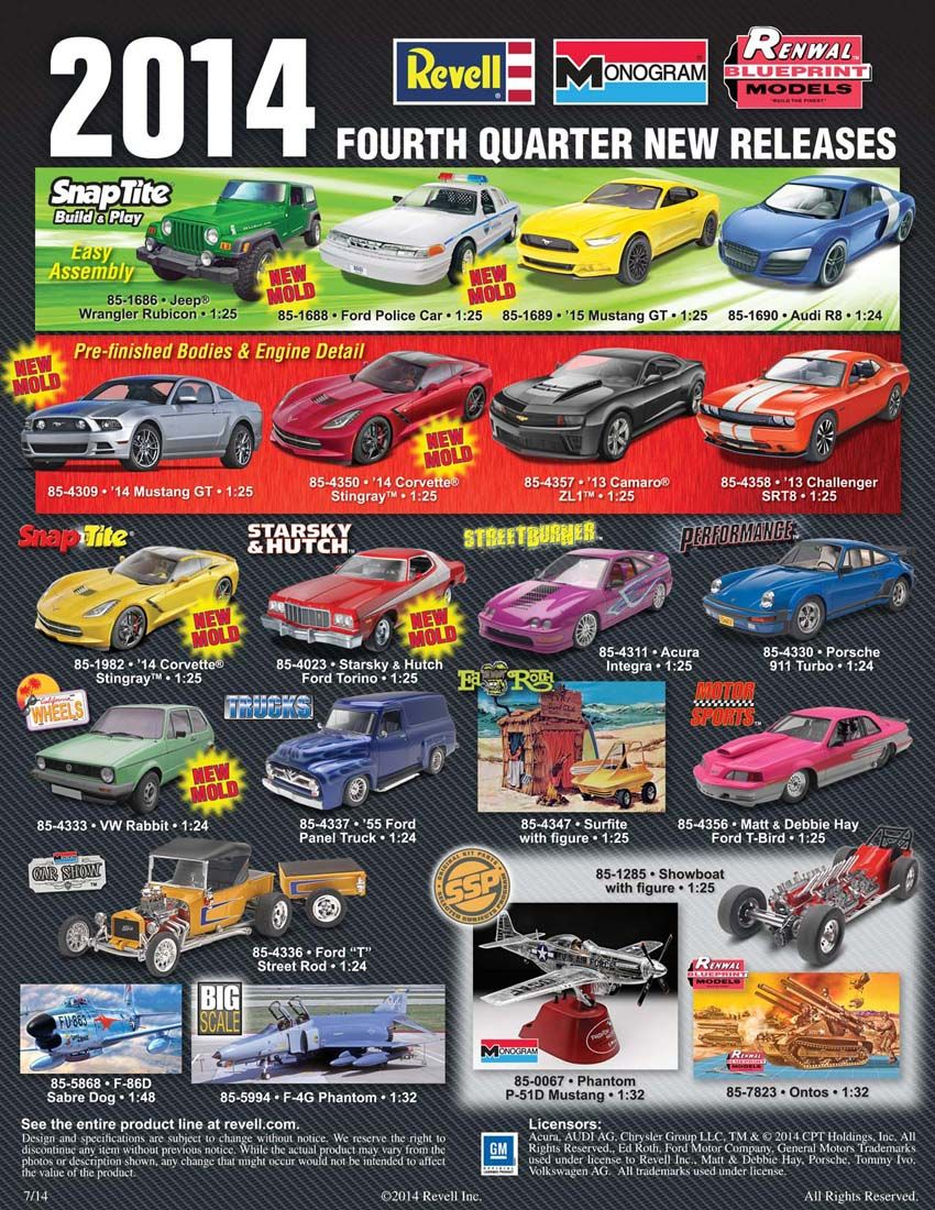Revell 2014 4th quarter new releases   Model cars / other