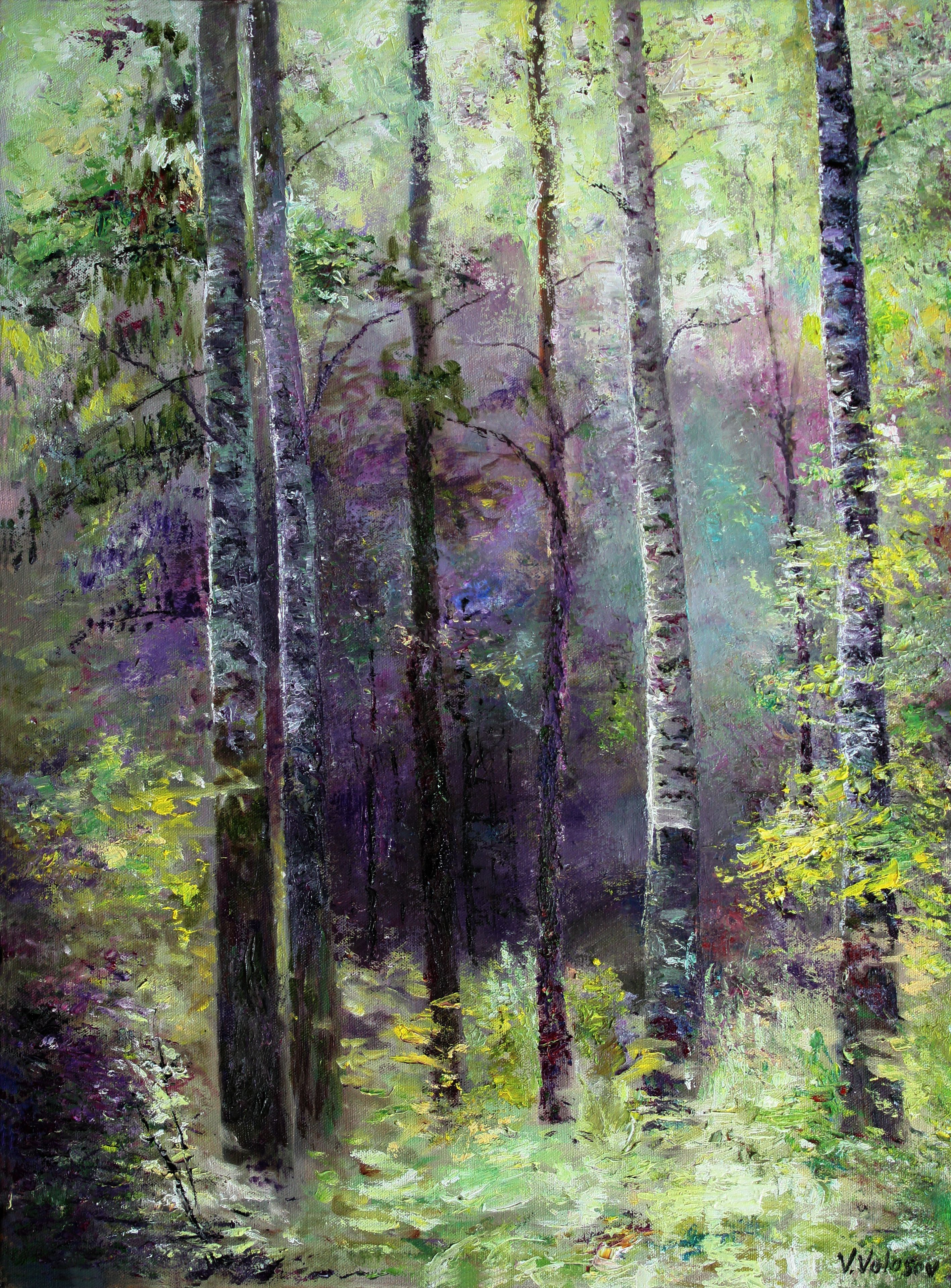 The northern hardwood forest in the adirondack mountains is dominated by deciduous trees and provides a home for a wide variety of wildlife and plants. Medium Original Impressionist Painting Oil On Canvas In Dark Blue Forest Peinture De Foret Huile Sur Toile Paysages En Peinture A L Huile