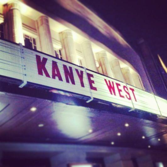 hammersmith apollo, London.   Kanye West concert 2013.
