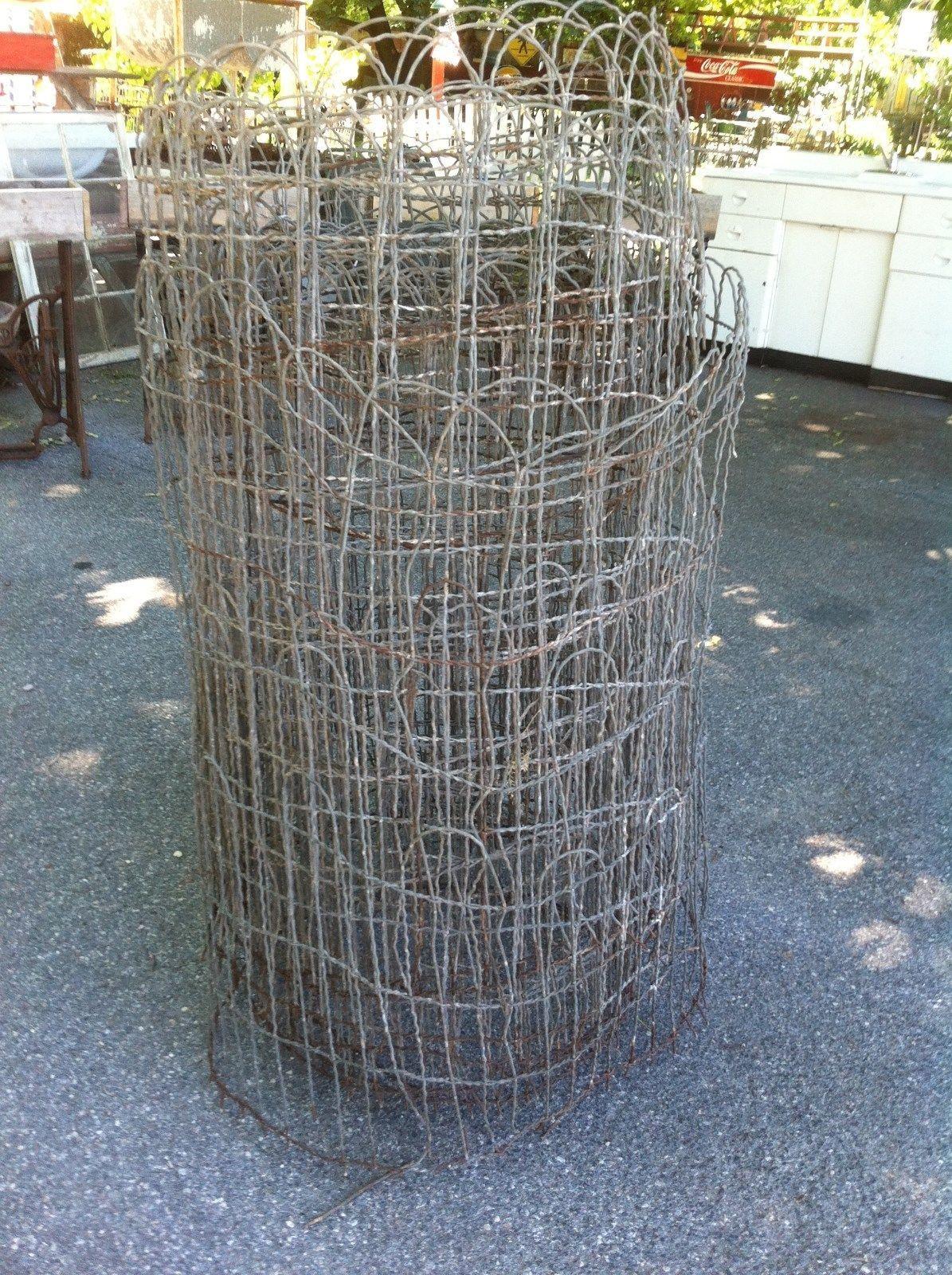 Vintage Woven Wire round top garden fence gate trellis 20 ft roll ...
