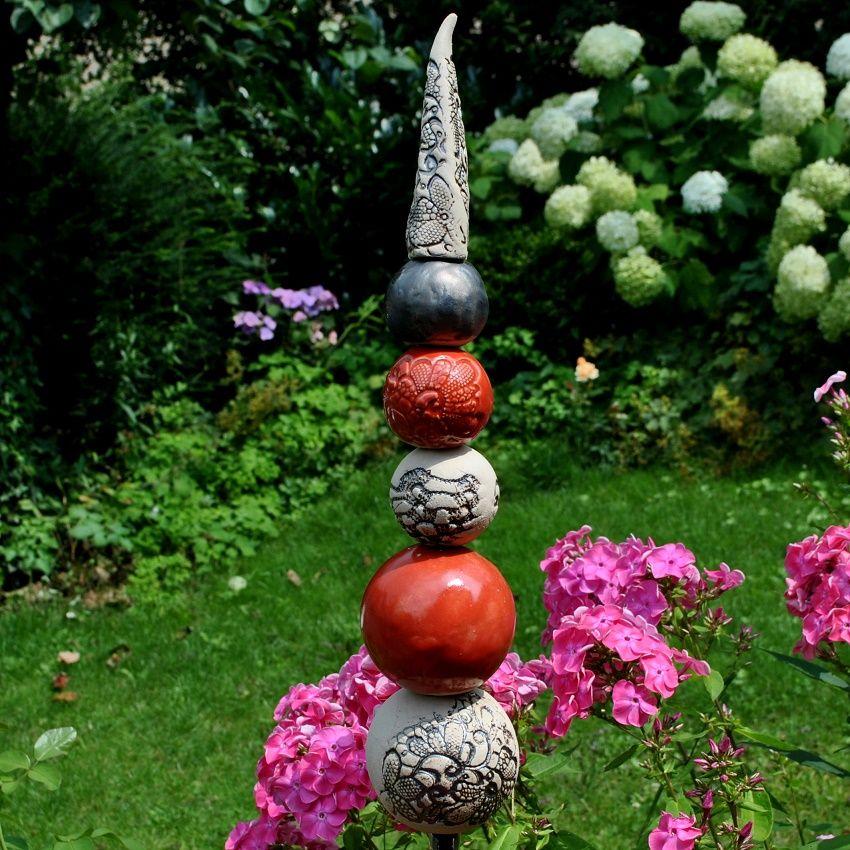 gartenstele aus frostsicherer keramik http://www.landhausidyll, Hause und garten