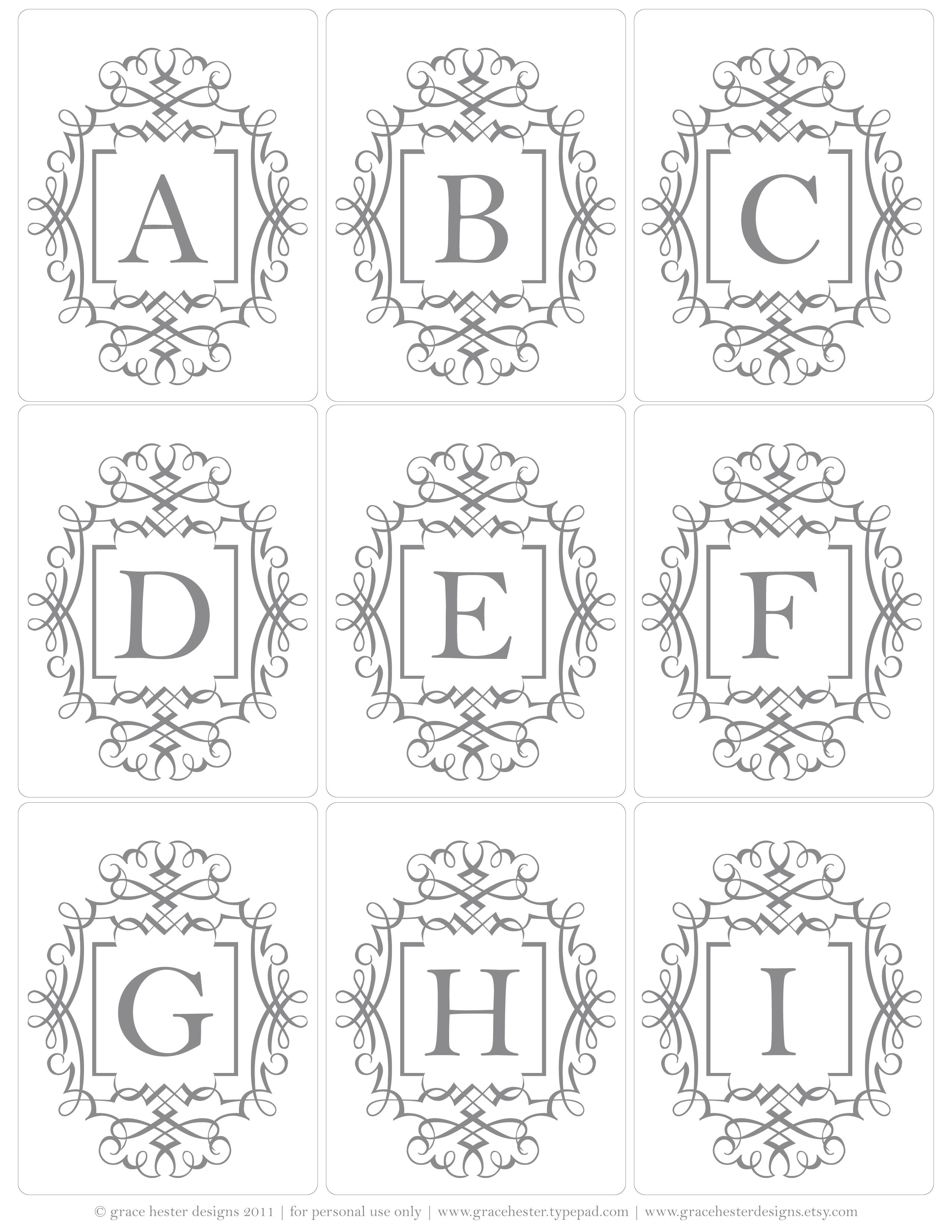 Free Printable Monogram Tags Available In Colors: Denim, Buttercream U0026  Stone Great For Bottle Cap Jewelry, Glass Tile Jewelry U0026 Fridge Magnets  Too! #ecrafty
