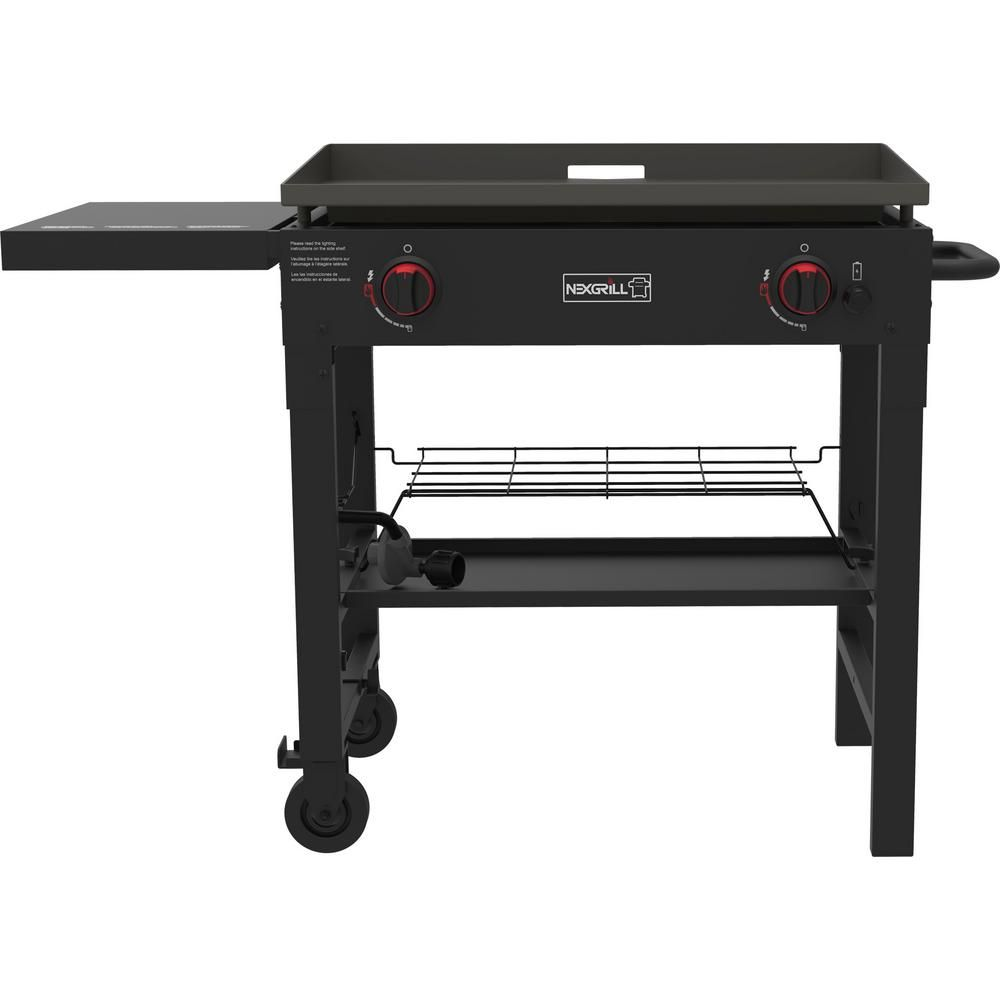 Nexgrill 2 Burner Propane Gas Grill In Black With Griddle Top 720 0785 The Home Depot In 2020 Propane Gas Grill Gas Grill Best Gas Grills