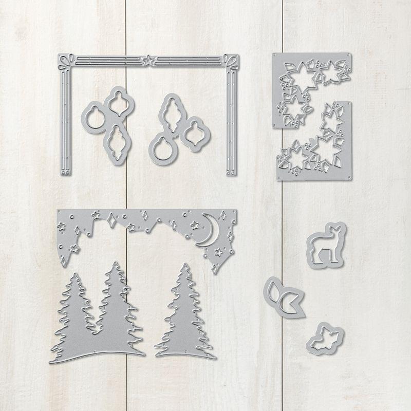 139659 Stampin/' Up Christmas Greetings Thinlits Dies