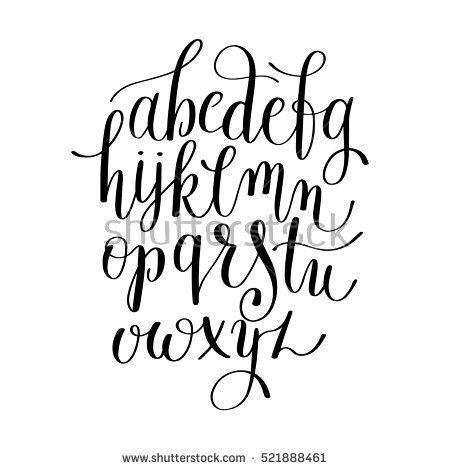 Black And White Hand Lettering Alphabet Design Handwritten Brush Script Modern Calligraphy Cursive F Lettering Alphabet Hand Lettering Alphabet Hand Lettering