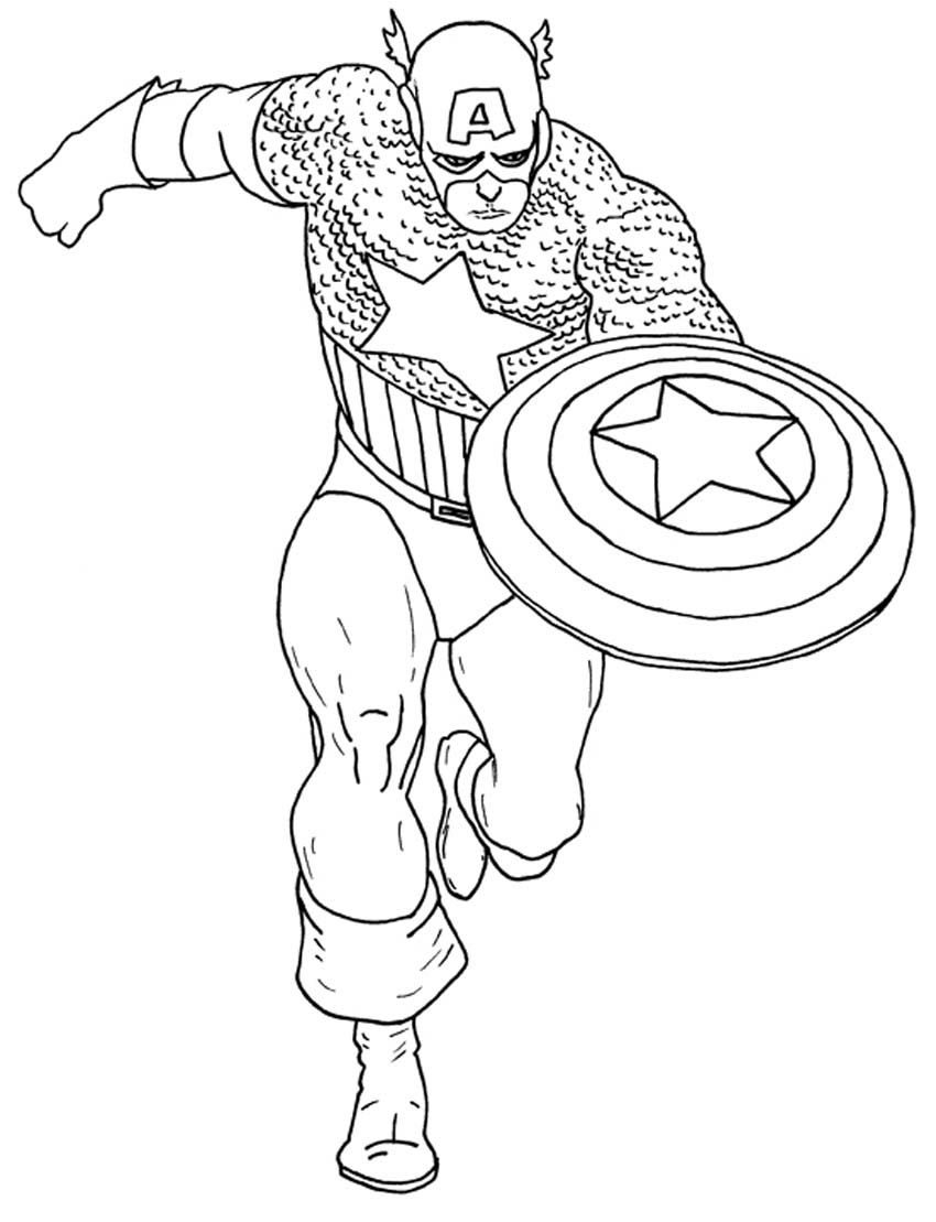 10 Amazing Captain America Coloring Pages For Your Little One Captain America Coloring Pages Superhero Captain America Avengers Coloring Pages