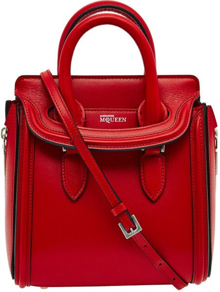 0412012a8a1df Women's Mini Red Heroine Leather Crossbody Bag | Alexander McQueen ...