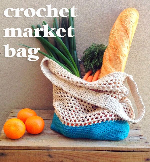 DIY Crochet Market Bag Pattern #bagpatterns
