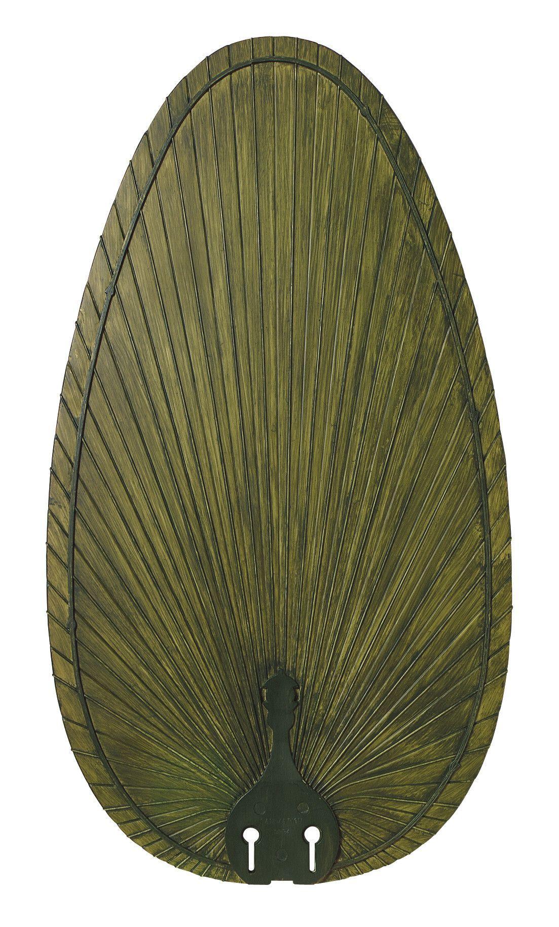 Narrow Oval Palm Leaf Outdoor Ceiling Fan Blade