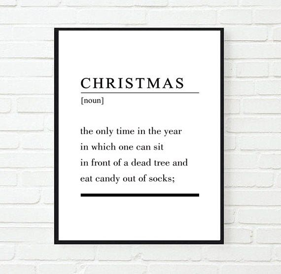 funny christmas poster christmas definition poster christmas digital print definition wall art - What Is The Definition Of Christmas