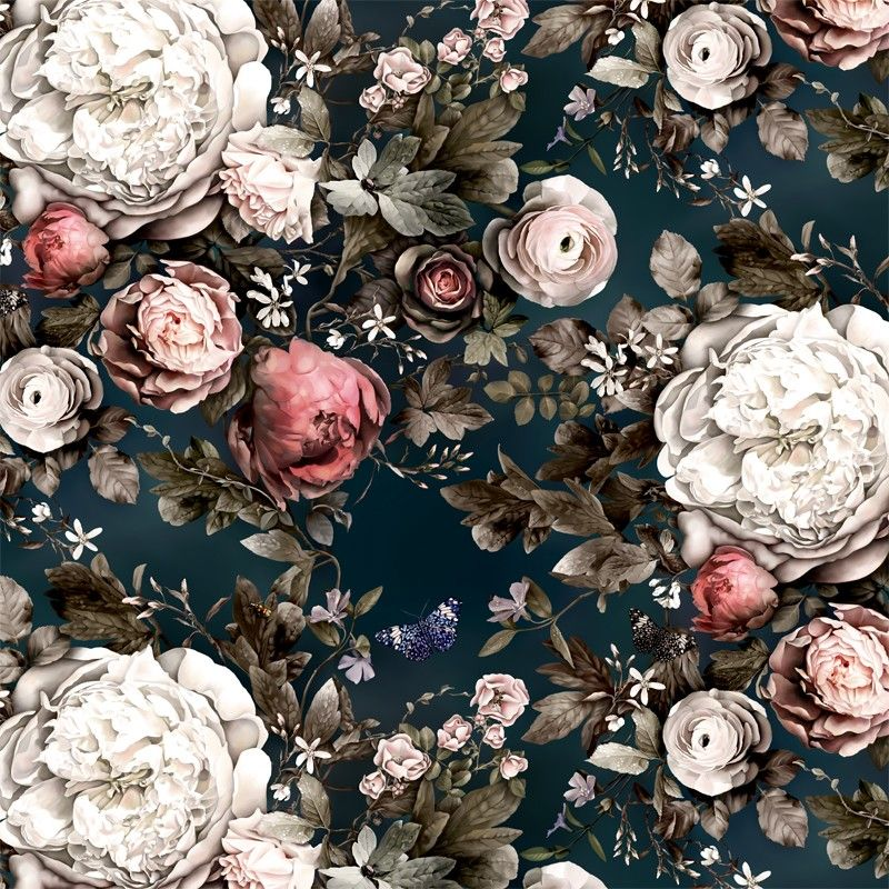 Moonlight Meadow Blue Wallpaper collection
