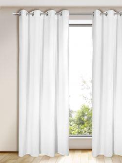 gardinen eleganter blickdichter senschal alesso in weiss ma e ca 245 x 135 cm. Black Bedroom Furniture Sets. Home Design Ideas