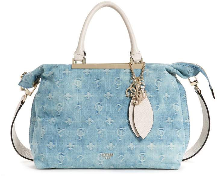 GUESS Lou Lou Large Denim Satchel  710bd64e10c41