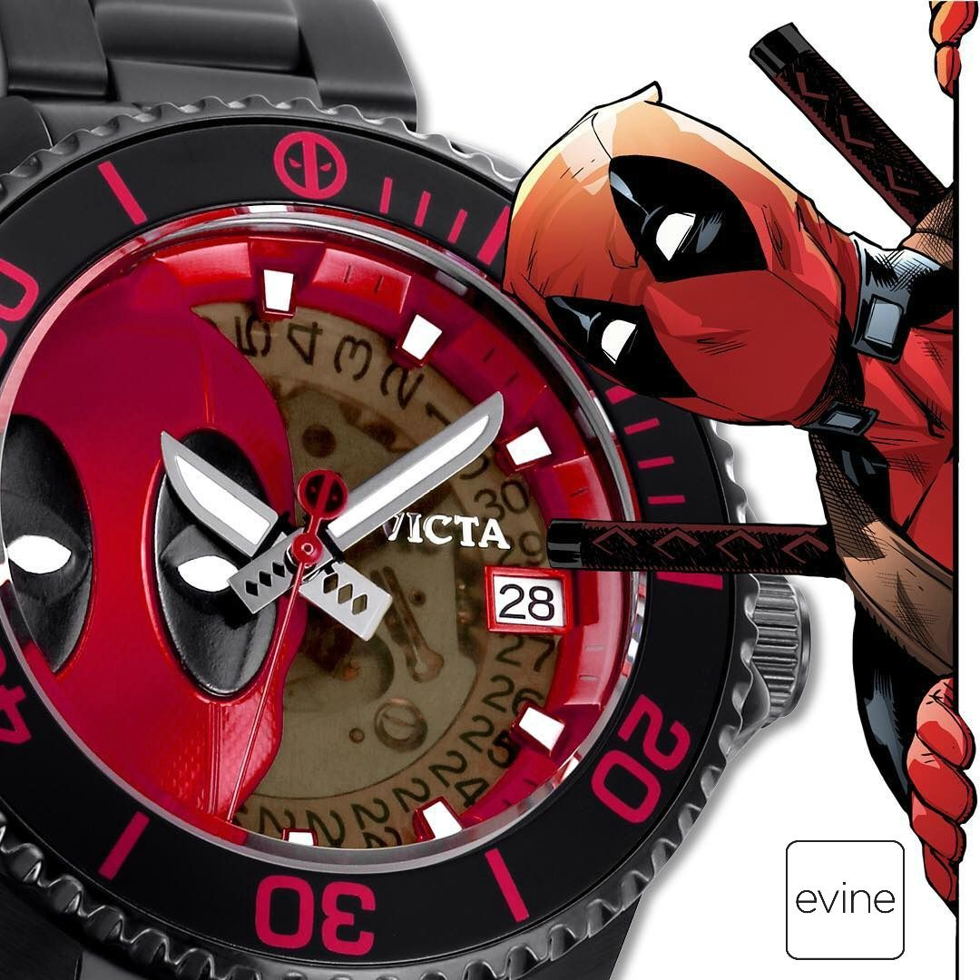 10f809dc869 Invicta Marvel adds edge to every day with this Deadpool edition of the  Grand Diver. Don t be surprised if you feel that attitude and sarcasm the  second you ...