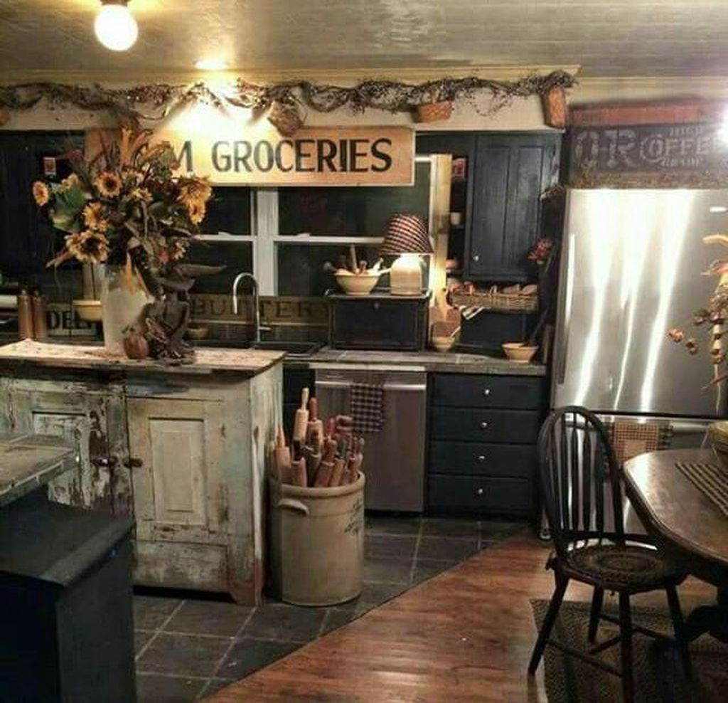 Nice 46 Awesome Farmhouse Country Kitchen Decoration Ideas