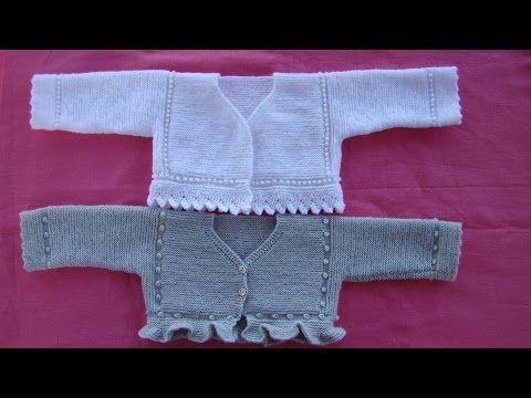 ec2161150 JERSEY de BEBÉ LEO - YouTube. JERSEY de BEBÉ LEO - YouTube Knit Baby  Sweaters ...