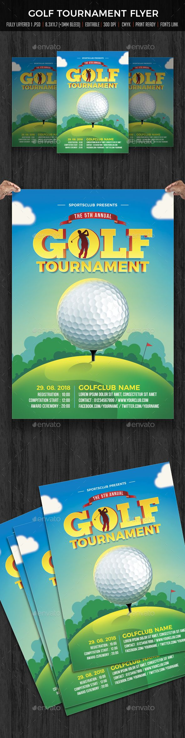 Golf Tournament Flyer  Flyer Template Golf And Template